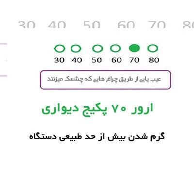 خطای ۷۰ پکیج دیواری | رفع مشکل ارور 70 پکیج ایران رادیاتور | تعمیر کار پکیج